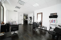 Clean european hair salon Royalty Free Stock Photography