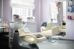 Clean european hair salon Royalty Free Stock Images