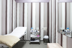 Clean european massage room Stock Images