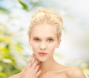 Clean face of beautiful girl Stock Photo