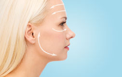 Clean face of beautiful young woman Royalty Free Stock Images