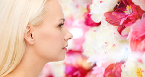 Clean face of beautiful young woman Royalty Free Stock Photos