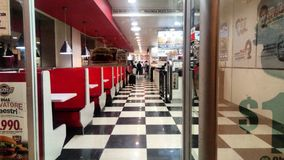 Clean fast food. Night, comida stock photography