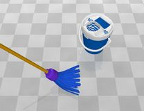 Clean the floor. Image of clean the floor Royalty Free Stock Photography