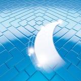 Clean floor blue. Illustration render of Clean floor blue and stars vector illustration