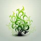 Clean Floral Vector Background Stock Photography