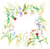Clean flower vector illustration against a white b Royalty Free Stock Images