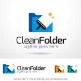 Clean Folder Logo Template Design Vector Stock Photo