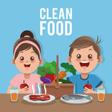 Clean food design Royalty Free Stock Images