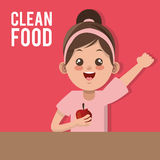 Clean food design Stock Photography