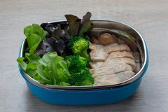 Clean food,Grilled chicken breasts and vegetable. And rice berry Stock Photography
