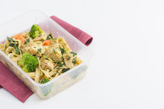 Clean food lunch box Stock Image