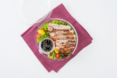 Clean food lunch box Stock Photos