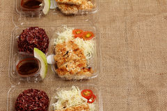 Clean food lunch box Stock Images