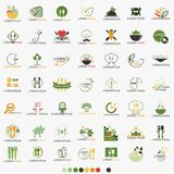 Clean Food Restaurant Healthy Logo Set - Vector Stock Photography