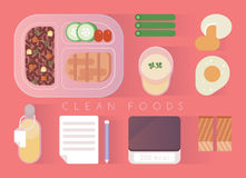 Clean foods design  pink set Royalty Free Stock Photo