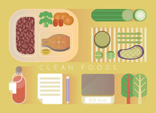 Clean foods design  yellow set Royalty Free Stock Photography