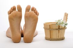 Clean foot Stock Images