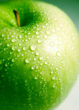 Clean fresh green apple Stock Image