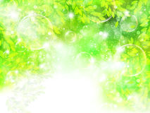 Clean fresh green background illustrations Stock Photography