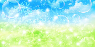 Clean fresh green background illustrations Royalty Free Stock Photography