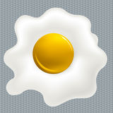Clean fried egg Stock Photography