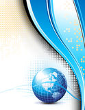 Clean futuristic background with earth globe Royalty Free Stock Photo