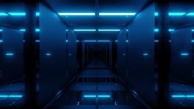 Clean futuristic cool ci-fi tunnel 3d illustration background wallpaper motion background endless looping loop. Clean futuristic cool ci-fi tunnel 3d stock video footage