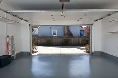 Clean garage. Interior of a clean garage in a house Stock Photography