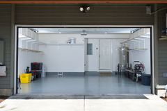 Clean garage. Interior of a clean garage in a house Royalty Free Stock Photography