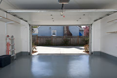 Clean garage. Interior of a clean garage in a house Royalty Free Stock Photo