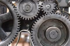Clean gears and cogs. As industrial background Stock Photography