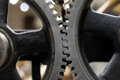Clean gears and cogs. As industrial background Royalty Free Stock Images