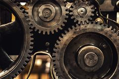 Clean gears and cogs. As industrial background Royalty Free Stock Photos