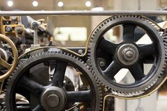 Clean gears and cogs. As industrial background Stock Photo