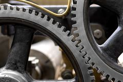 Clean gears and cogs. As industrial background Stock Image