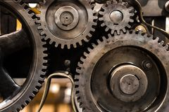 Clean gears and cogs. As industrial background Royalty Free Stock Image