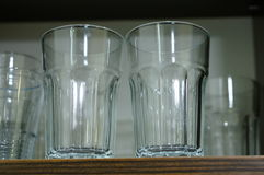 Clean glasses. In cupboard Stock Photography