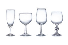 Clean glassware. On white background stock photography