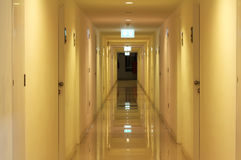 Clean Glossy Apartment Corridor Royalty Free Stock Photo