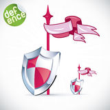Clean Glossy Shield Royalty Free Stock Images