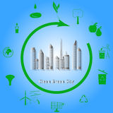Clean Green City Royalty Free Stock Photo