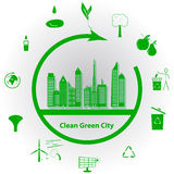 Clean Green City Stock Photography