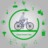 Clean Green City Stock Photo