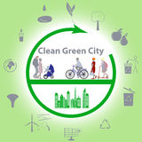 Clean Green City Stock Images