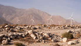 Clean Green Energy Wind Turbines Alternative Desert Power Stock Photo