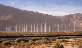 Clean Green Energy Wind Turbines Alternative Desert Power Royalty Free Stock Image