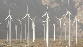 Clean Green Energy Wind Turbines Alternative Desert Power stock video footage