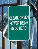 Clean green power sign Stock Photo