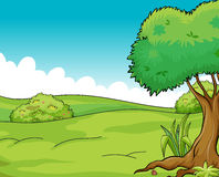 Clean and green view vector illustration